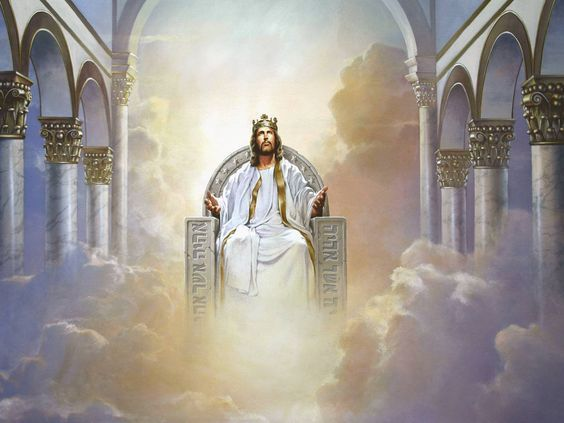 Jesus Christ Sitting On Throne Clipart Image 4 Jesus Pictures