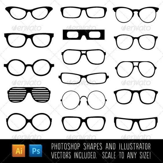 Spectacle Custom Shapes (Photoshop and Illustrator) by Jeremy Child, to purchase click here - http://graphicriver.net/item/spectacle-custom-shapes/6092631?WT.ac=portfolio&WT.seg_1=portfolio&WT.z_author=JRChild&ref=JRChild