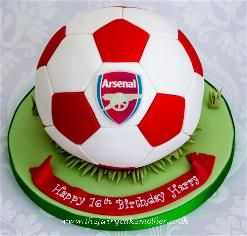 arsenal football cake arsenal cake and more football football cakes ...