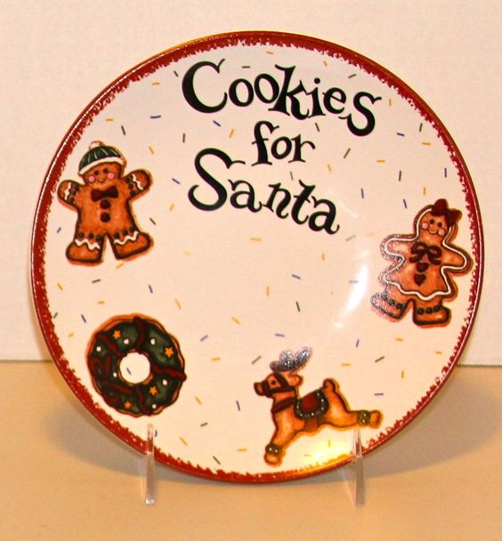Cookies For Santa Plate 8 Christmas Holiday East West