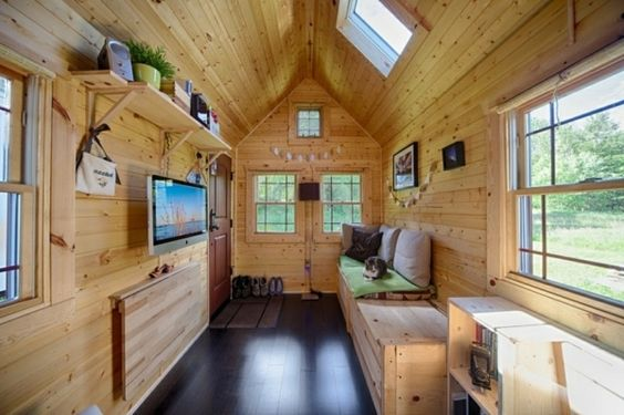 tiny house zum selber bauen bungalows pinterest mobiles haus und haus. Black Bedroom Furniture Sets. Home Design Ideas
