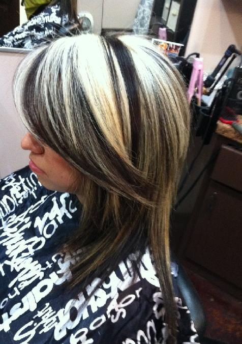 3 black and blonde together my style pinterest black and my style pinterest black and blonde chunky highlights and blondes pmusecretfo Images