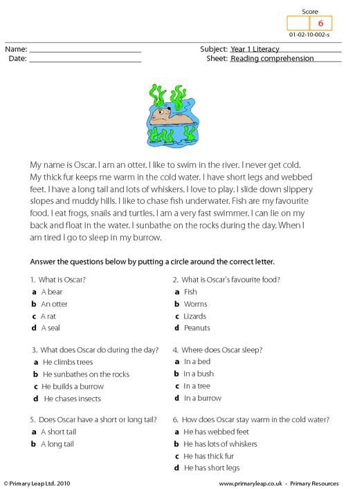 Worksheets Reading Comprehension Multiple Choice Worksheets pinterest the worlds catalog of ideas having strong reading comprehension skills will also help in other subjects students read text about an otter and answer multiple choice q