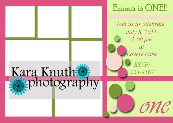 First Birthday Invitation Template Birthday Pinterest - first birthday invitations templates