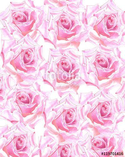 акварельный цветочный фон с розами, Может использоваться для оформления…