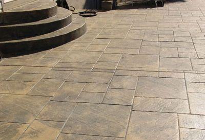 Stamped Concrete Patterns | Decorative Stamped Concrete Sidewalks and Steps: Cole Concrete ...