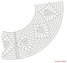 Платье вязаное с круглой кокеткой схеми