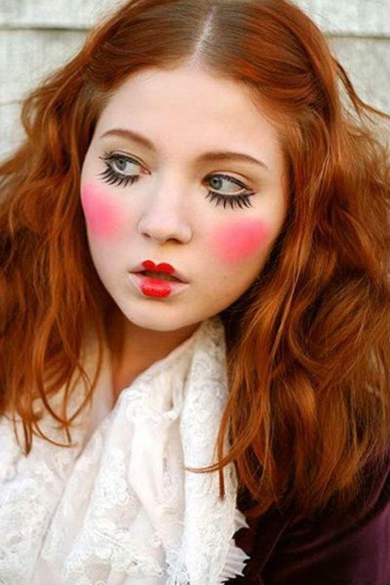 Idées de maquillage halloween femme à copier - poupée
