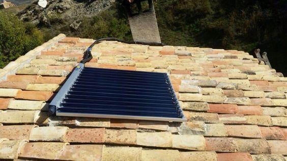 Captador solar de 14 tubos al vacío del sistema AQUA CPC