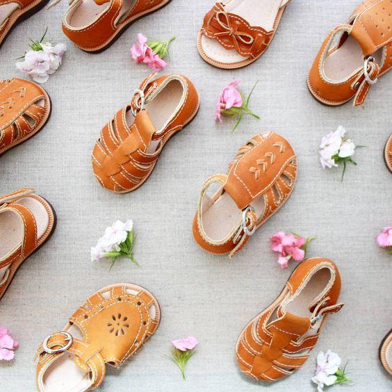 Gorgeous handmade leather sandals for boys & girls.  Adelisaandco.com