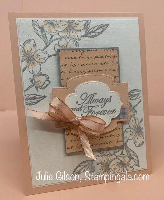 Forever Blossoms Trio Cards Stampin Up Wedding Cards Paris Cards
