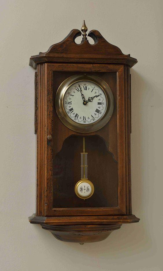 orologio da parete in legno a pendolo da muro classico artigianale suoneria 527 complementi d