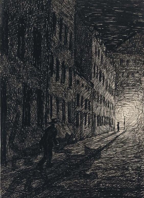 Fritz Schwimbeck (1889-1972) Trieb 1915 (18,5 x 12,8 cm):