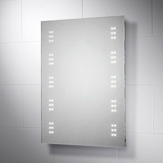 Leto Led Illuminated Battery Powered Bathroom Mirror Bathroom Mirror Bathroom Led