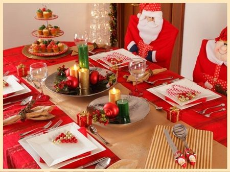 Imagenes De Mesas Decoradas Para La Cena De Navidad Christmas Table Chritmas Decorations Christmas Wonderland