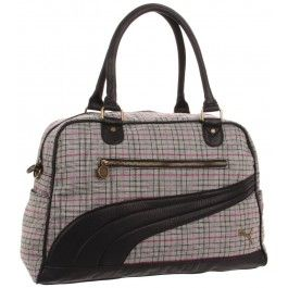 Puma Black & Grey Remix Lifestyle Carryall Handbag www.silverhooks.com