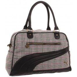 Puma Black & Grey Remix Lifestyle Carryall Handbag www.silverhooks.com