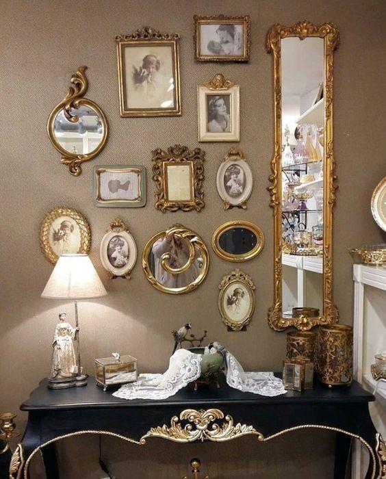 Vintage Hand Mirror Wall Art Room Decor Decor Home Decor