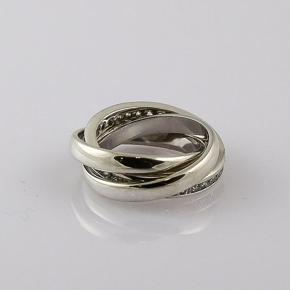 Silver Russian wedding ring with style 107351 by RevivalJewellery, $50.00