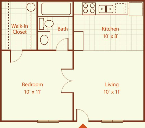 400 sq ft apartment floor plan google search 400 sq ft for Efficiency apartment floor plans
