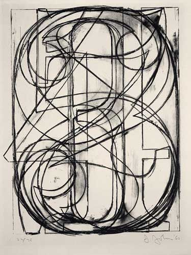 Jasper Johns (b. 1930)  0 through 9, 1960 lithograph (stone) in black on Arches paper 69.85 x 53.97 cm (27 1/2 x 21 1/4 in.) National Galler...