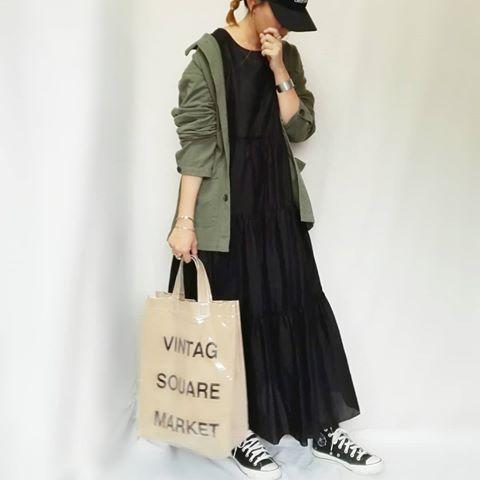 shokoさん mamkorisa instagram写真と動画 黒ワンピース コーデ ファッションアイデア ワンピース コーデ
