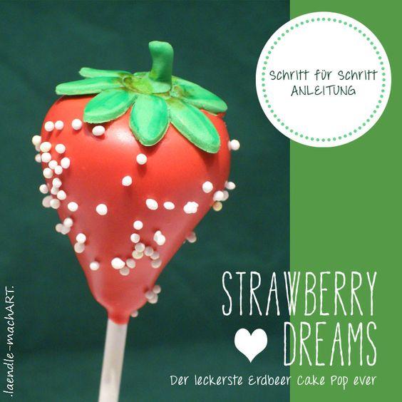Cake Pops, Erdbeer Cake Pops, Strawberry, Erdbeerschokolade, Biskotten, ohne Backen, einfaches Rezept, Kinder, Jugendliche, Zeitschrift JÖ, ...