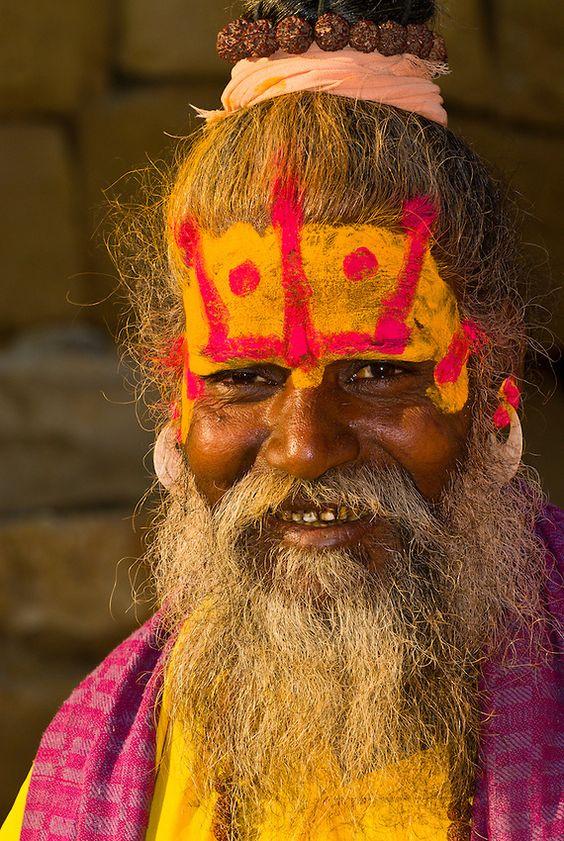 Saddhu (holy man), Jaisalmer Fort, Jaisalmer, Rajasthan, India