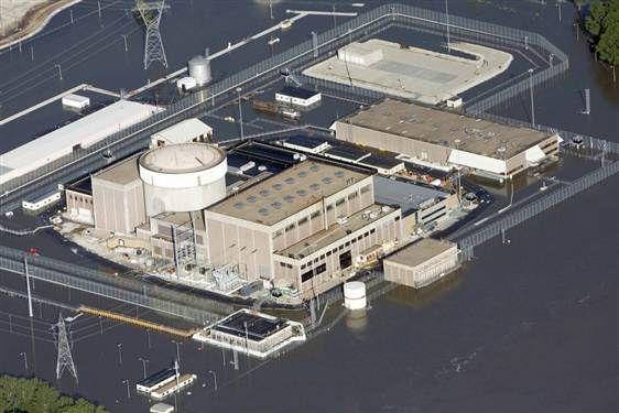 Missouri River Flood July 2011 Nebraska Nuclear Power Plant #flood #nuclear