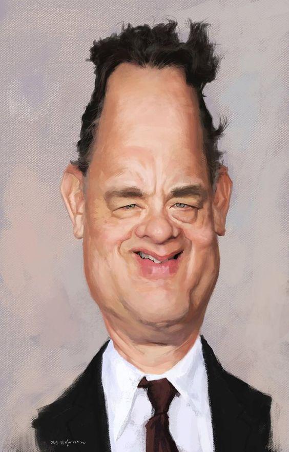 Caricatura de Tom Hanks http://www.pinterest.com/armandoop/humor/