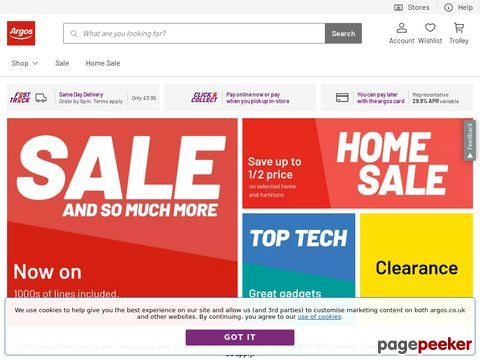 Get Up To 50 Off Home Sale At Argos Co Uk Give Your Home Some Tlc
