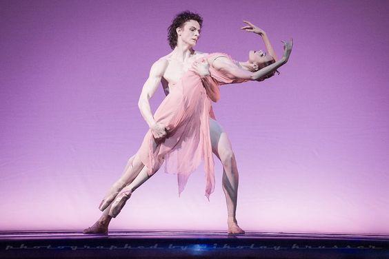 "Ulyana Lopatkina and Marat Semiunov in ""La Rose Malade"" /photo by Nikolay Krusser..."