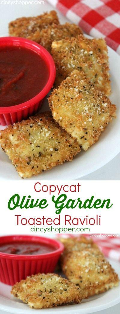 Toasted Ravioli Ravioli And Olive Gardens On Pinterest