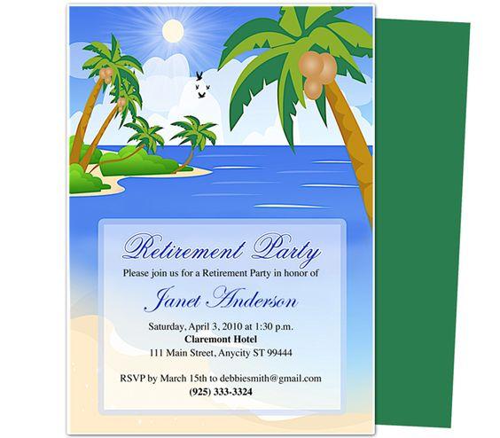 Retirement Templates : Paradise Retirement Party
