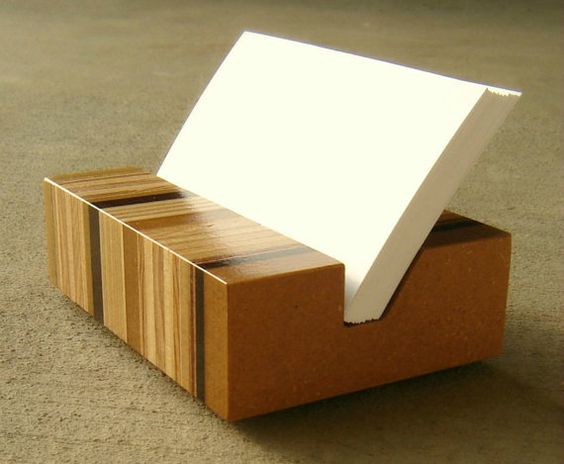 Shopping business cards and business card holders on for Unusual business card holders
