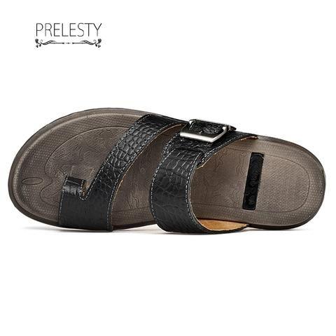 Prelesty Men Sandal Crocodile Design