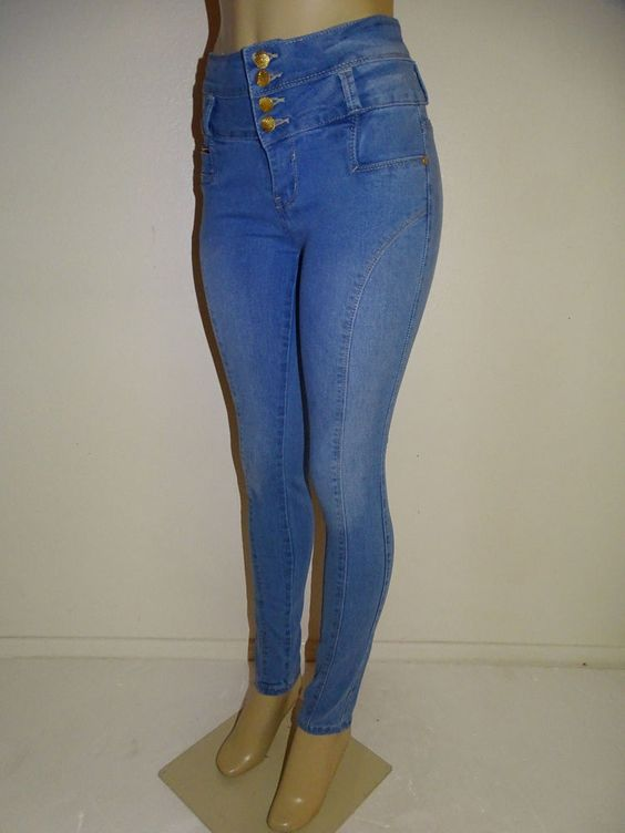 Diamante Brazilian Push up Butt Lift Levanta Cola Colombian Skinny L Blue Jeans #Diamante #SlimSkinny