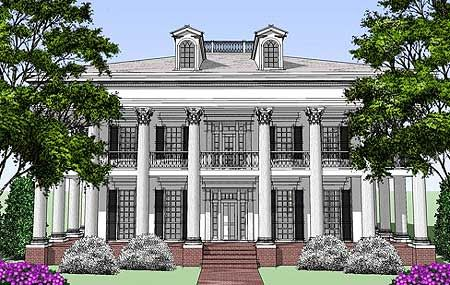 Southern plantation style southern plantations and luxury for Southern luxury house plans