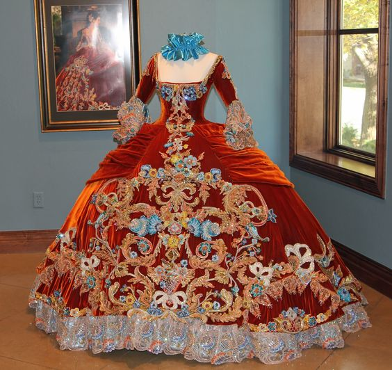 Exhibition of Linda Leyendecker Gutierrez ballgowns. From Laredo, TX, this designer creates these one of a kind, hand sewn ballgowns for the Martha Washington Society debutantes.