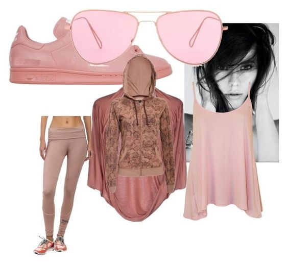 """pink panther"" by naptastic on Polyvore featuring adidas, Annarita N., Pilot, WearAll, Isabel Marant, women's clothing, women, female, woman and misses"