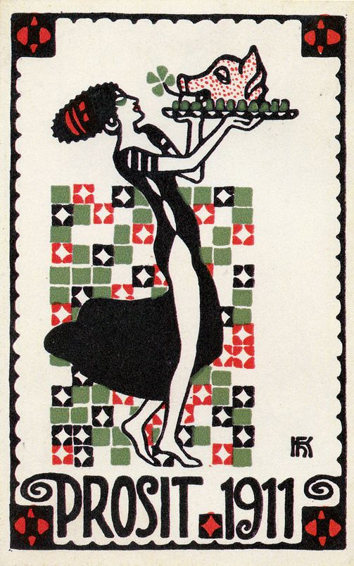 Postkarte no. 305 Hans Kalmsteiner. ART & ARTISTS: Wiener Werkstätte postcards – part 1: