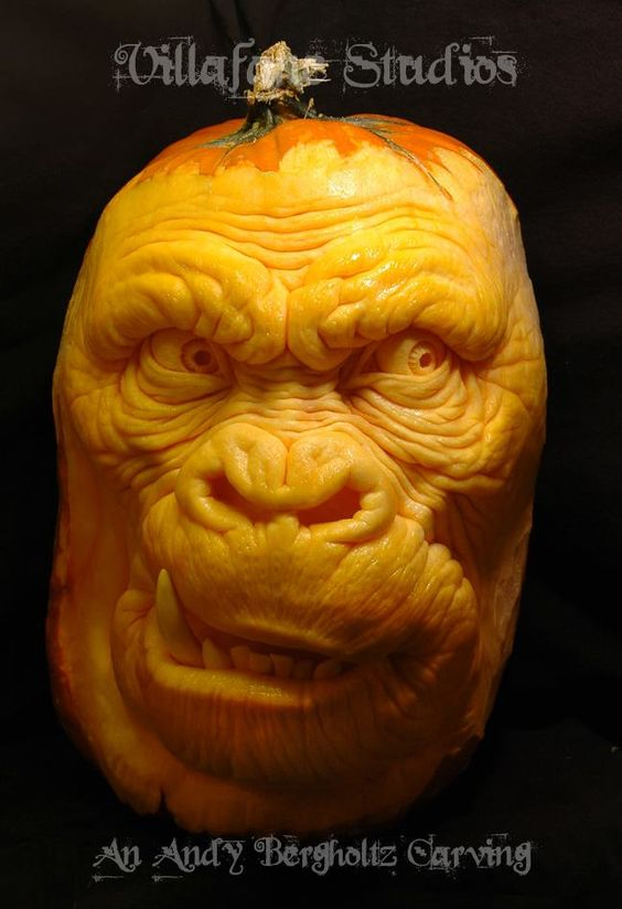 Pumpkin ape by Andy Bergholtz