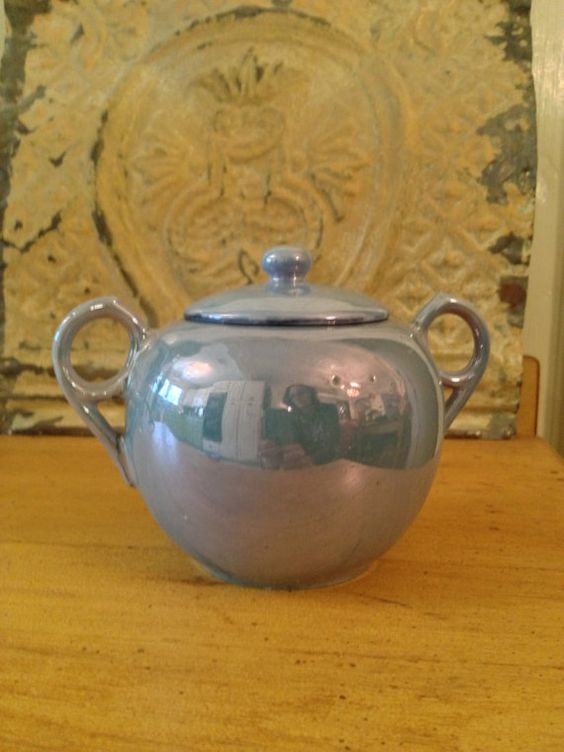 Vintage Lusterware Sugar Bowl by CircaTime on Etsy, $8.95