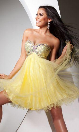 Organza A-line Sweetheart Short Formal Dresses FSAU1409P800923 - formalsydney.com