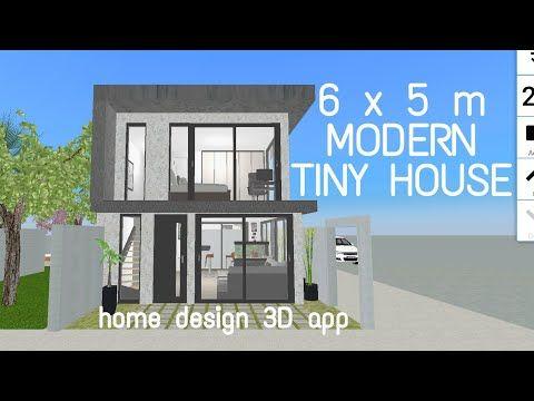 Modern Tiny House 6x5 M 50m Lot Area Home Design 3d App Youtube Modern Small House Design Modern Tiny House Small House Design