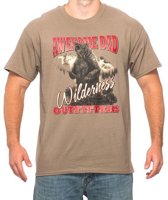 Brown Savana Wilderness Grizzly T-Shirt