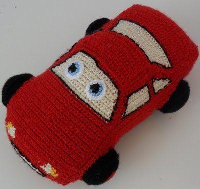 Free pattern lightning mcqueen (free pattern: Crochet Toys, Cars Crochet Pattern, Crochet Amigurumi, Find Toys, Crochet Cars Free Pattern, Amigurumi Toys, Crochet Patterns, Crochet Lightning Mcqueen