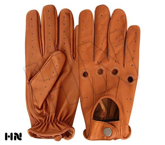 Men's Slim Fit Driving Gloves Chauffeur Lambskin Leather Dress Fashion Classic