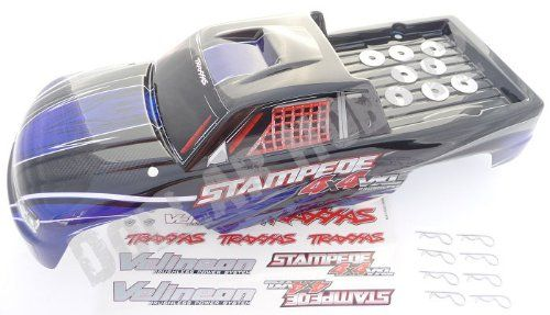 Traxxas Stampede 4x4 VXL BLUE BODY & DECALS (posts clips shock tower (6708). Traxxas Stampede 4x4 VXL BLUE BODY & DECALS (posts clips shock tower (6708).