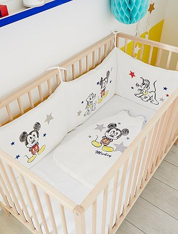 Tour de lit velours 'Mickey'                              Mickey Bébé garçon  - Kiabi